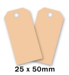 photo of Label nr 0 50mm  x 25mm chamois onbedrukt Karton