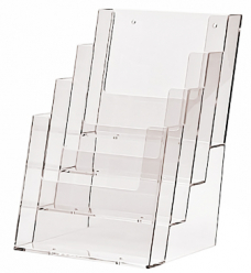 photo of Folderhouder 14.8cm x 21cm staand 4 vakken acryl
