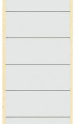 photo of Rugetiket Leitz breed/lang 62x285mm zelfklevend wit