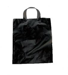photo of Plastic draagtas Lus 30cm x 35cm zwart onbedrukt mdpe 60µm