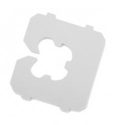 photo of Schutlock b1 sluiting kunststof 2.1cm  x 1.8cm wit
