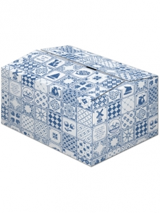 photo of Pakketdoos C 39cm x 29cm x 23cm blauw tegeltjes