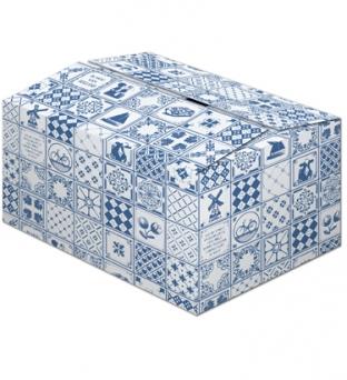 Pakketdoos C 39cm x 29cm x 23cm blauw tegeltjes  Product image