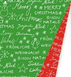 photo of Kadopapier kerst 30cm x 175m 691494/6 gecoat 2 zijdig papier 80gr / m2