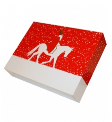 photo of Letterdoos 28cm x 21cm x 6cm wit/rood sint etoile