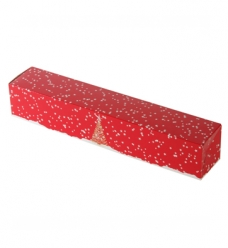 photo of Staafdoos 32cm x 6cm x 6cm wit/rood kerst etoile