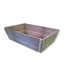 photo of Pakketdoos basket 34cm x 20.5cm x 11cm grijs hout