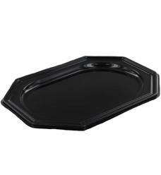 photo of Pet zwart schaal 45cm  x 30cm   ovaal