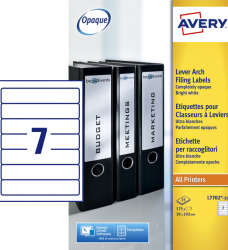 photo of Rugetiket Avery smal 39x192mm zelfklevend wit