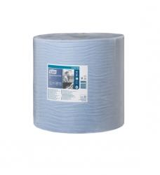 photo of Poetsrol tork wiper 420 37cm x510m W1 130050 2 laags blauw advance