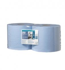 photo of Poetsrol tork wiper 420 24cm x255m W1/W2 130052 2 laags blauw advance