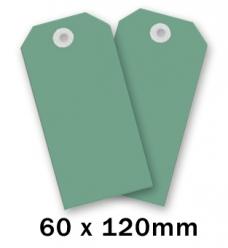 photo of Label  120mm  x 60mm groen onbedrukt Karton