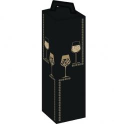 photo of Draagkarton 1 fles zwart glas