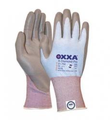 photo of Werkhandschoenen OXXA X-diamond-flex cut 3 nylon/lycra met pu coating 10/XL zwart/grijs