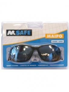 photo of Veiligheidsbril M-safe Polycarbonaat donkere glazen donker Maipo