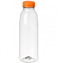 photo of Flessen met oranje dop 500 ml pet transparant