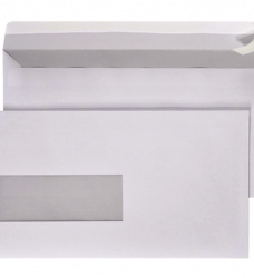 photo of Envelop Hermes Digital EA5/6 110x220mm venster 3x10links zel