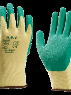 photo of Handschoen grip latex groen/geel large