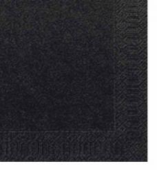 photo of Servet duni 33cm x 33cm zwart 2 laags