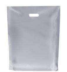 photo of Plastic draagtas Lus handvat 45cm x 50cm wit Baas Business Market ldpe 100µm