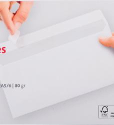photo of Envelop Quantore bank EA5/6 110x220mm zelfklevend wit 50stuk