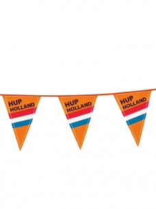 photo of Puntvlag plastic oranje hup holland hup 6m