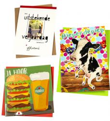photo of Wenskaart Paperclip navulset verjaardag humor set à 12 kaarten