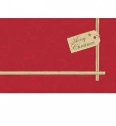 photo of Napperon 84cm x 84cm dunicel rood Christmas gift
