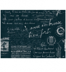 photo of Placemat duni 30cm x 40cm blauw le bistro