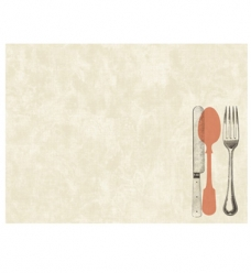 photo of Placemat duni 35cm x 45cm beige le bistro