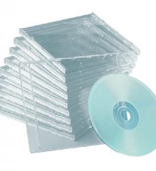 photo of Cd doos Quantore slimline 25stuks leeg transparant