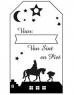 photo of Houten stempel van de sint voor met paard