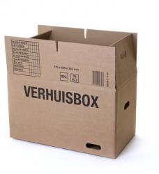 photo of Verhuisdoos Budget 370x650x350 dubbelgolf bruin