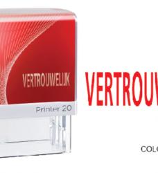 photo of Woordstempel Colop Printer 20 vertrouwelijk rood