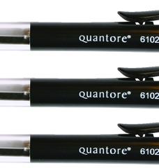 photo of Balpen Quantore drukknop zwart medium