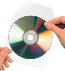 photo of Cd/dvd hoes 3L 127x127mm klep niet zelfklevend transparant