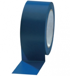 photo of PVC tape 50mm x 66m blauw onbedrukt