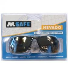 photo of Veiligheidsbril M-safe Polycarbonaat donkere glazen zwart Nevado