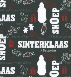 photo of Kadopapier sinterklaas 50cm x 200m 90037 gestreken kraft 80gr / m2