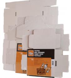 photo of Postpakket CleverPack golfkarton 220x160x90mm wit 5stuks