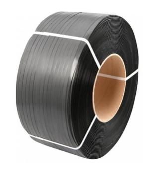 P.p. omsnoeringsband 12mm x 3000m  x 20cm 0.55mm zwart   Product image