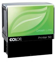 photo of Tekststempel Colop 40 green line+bon 6regels 59x23mm