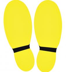photo of Vloersticker OPUS 2 voeten 2x geel/zwart