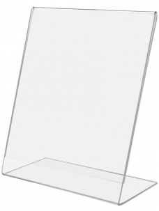 photo of Prijskaarthouder 21cm x 29.7cm A4 L-model acryl