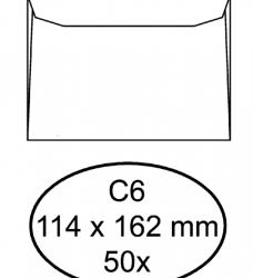 photo of Envelop Hermes bank C6 114x162mm zelfklevend wit 50stuks