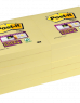 photo of Memoblok 3M Post-it 654-SSY Super Sticky 76x76mm geel
