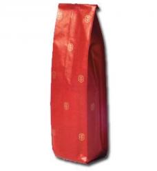 photo of Fleszak bruin kraft 10cmx 4cm  x 41cm rood gouden kroontje