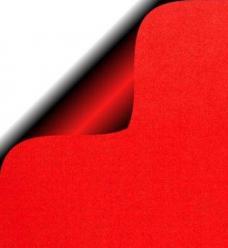 photo of Cadeaupapier 30cm x 200m rood 70gr / m2 wit kraft