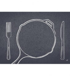 photo of Placemat duni 30cm x 40cm zwart plate it