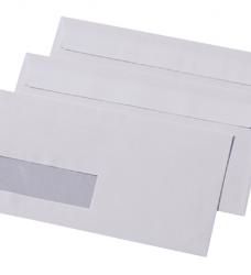 photo of Envelop Quantore 110x220mm venster 3x10cm links zelfkl 500st